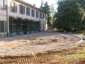 il parco di Villa Sartirana durante i lavori