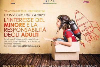 locandina dell'iniziativa con un bambino seduto in una scatola di cartone
