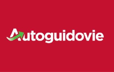 logo con sfondo rosso con la scritta  Autoguidovie