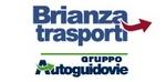 Logo Brianza trasporti con scritta Brianza Trasporti in blu e sotto Gruppo Autoguidovie sempre in blu