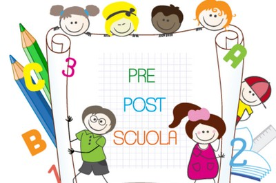 immagine con bambini pre e post scuola