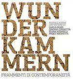 particolare della locandina dell'iniziativa, scritta WUNDERKAMMERN in primo piano