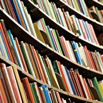 Scaffali con libri