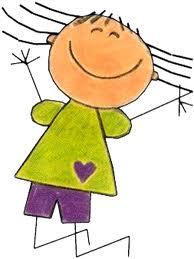 immagine stilizzata di una bambina che salta felice