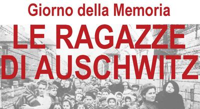 Scritta Giorno della Memoria Le ragazze di Auschwitz
