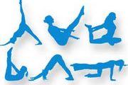 disegni stilizzati di persone che eseguono esercizi di ginnastica