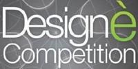 logo dell'iniziativa_ scritta Design è competition su sfond grigio