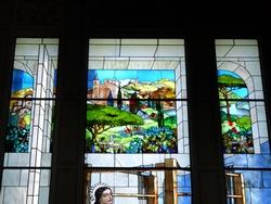 Villa Longoni - particolare di una vetrata