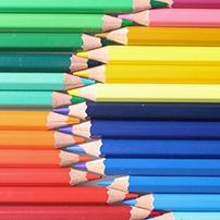 matite e pastelli colorati