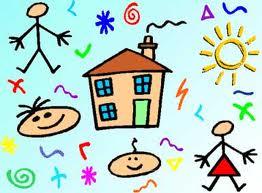 disegno di bambini e una casetta