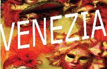 Stralcio della locandina raffigurante maschere veneziane