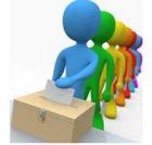immagine stilizzata elettori che votano