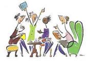 immagine con disegno di persone che leggono libri