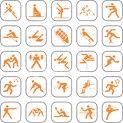 loghi stilizzati di varie discipline sportive
