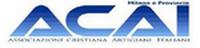 Logo dell'Associazione Cristiana Artigiani Italiani rappresentato dalle lettere acai in colore blu