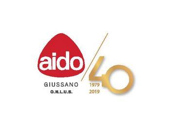logo AIDO con scritta per i 40 anni di fondazione