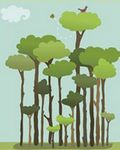 disegno di alberi stilizzati