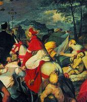 particolare di un dipinto raffigurante S. Carlo