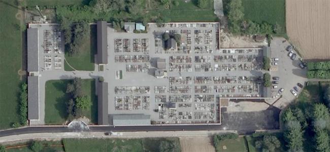 vista aerea del cimitero
