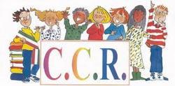 immagine stilizzata di ragazzi, sotto la scritta C.C.R.