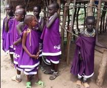Immagine di bambini Masai