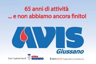 """logo Avis Giussano con scritta """"65 anni di attività ... e non abbiamo ancora finito!"""""""