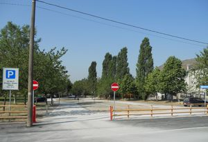 l'area del parcheggio dopo l'intervento
