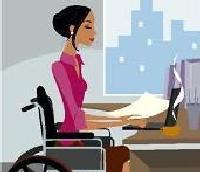 disabile fornito di ausili