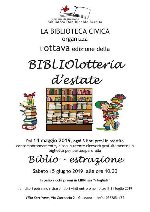 locandina dell'iniziativa con scaffale pieno di libri colorati e bambini con libri