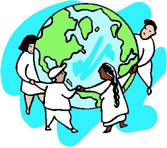 bambini in cerchio intorno ad un mappamondo