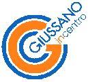 logo giussano incentro, riproduce la lettera G con bordo blu e interno arancio e la scritta Giussano incentro