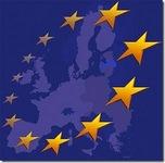Cqastina stilizzata stati unione europea con cerchio di stelle
