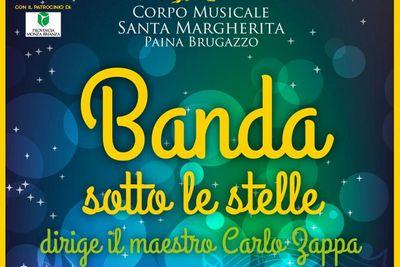 particolare della locandina: scritta Banda sotto le stelle, dirige il maestro Carlo Zappa