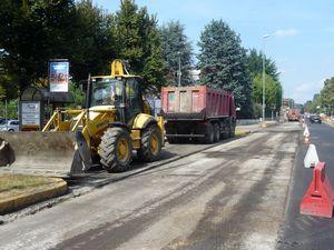 Via Milano durante i lavori di riqualificazione