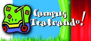"""disegno di un monopattino colorato con scritta """"campus teatrando"""""""