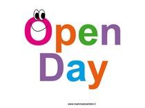 Scritta Open Day colorata