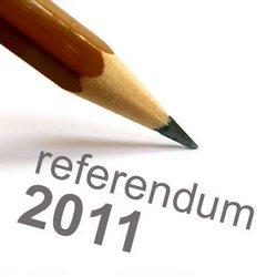 disegno di una matita e sotto la scritta referendum 2011