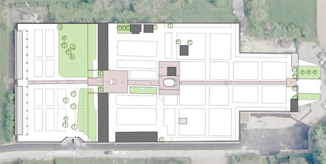 planimetria con l'inserimento dei vialetti in progetto