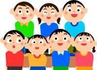 coro di bambini stilizzato
