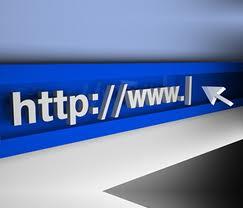 riproduzione di un indirizzo internet con freccia pronta a cliccare